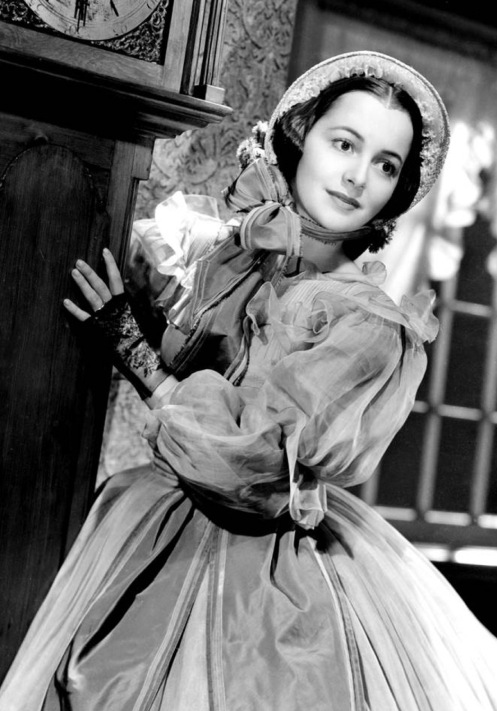 "as Melanie in ""Gone With the Wind"""