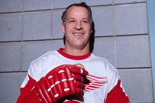MAILMASTER MONTREAL, QC - 1970's: Gordie Howe #9 of the Detroit Red Wings poses for a photo in Montreal, Canada. (Photo by Denis Brodeur/NHLI via Getty Images) Subject: gettygordie On 2014-03-07, at 3:55 PM, Grant, Rob wrote: MONTREAL, QC - 1970's: Gordie Howe #9 of the Detroit Red Wings poses for a photo in Montreal, Canada. Gordie Howe Wings.jpg